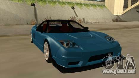 Honda NSX for GTA San Andreas left view