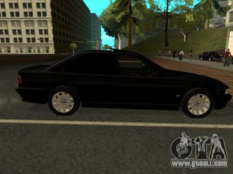 BMW 740I for GTA San Andreas back left view