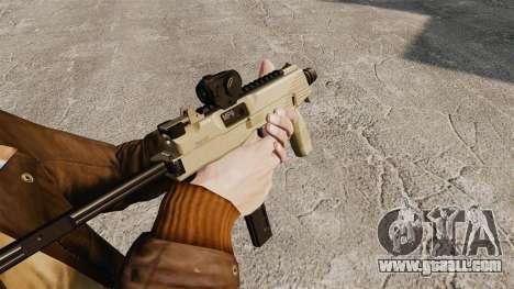 MP9 submachine gun tactical v4 for GTA 4 second screenshot