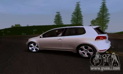 Volkswagen Golf 6 GTI for GTA San Andreas inner view