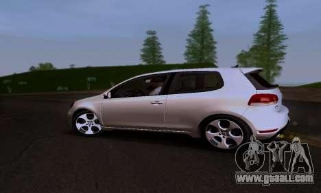 Volkswagen Golf 6 GTI for GTA San Andreas inner view