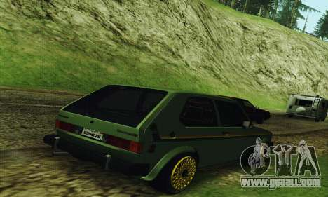 Volkswagen Rabbit GTI 1986 Cult Style for GTA San Andreas back left view