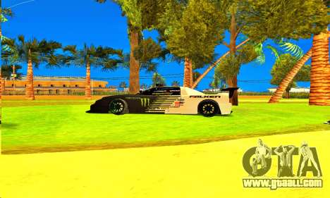 Infernus Rally Moster Energy 2012 for GTA San Andreas back left view