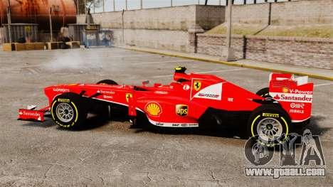 Ferrari F138 2013 v5 for GTA 4 left view