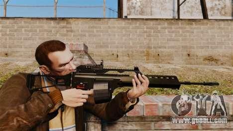 MG36 v4 H&K assault rifle for GTA 4