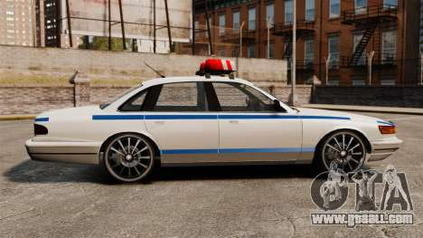 Police on a 20-inch drives for GTA 4 left view