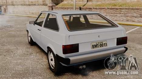 Volkswagen Gol LS 1986 for GTA 4 back left view