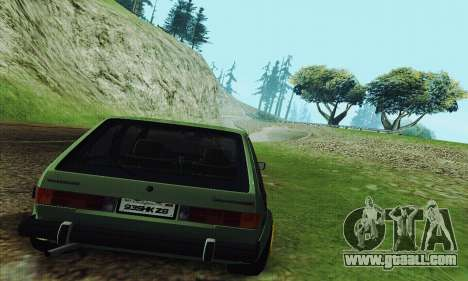 Volkswagen Rabbit GTI 1986 Cult Style for GTA San Andreas right view