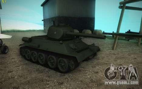 T-34-85 model 1945 for GTA San Andreas