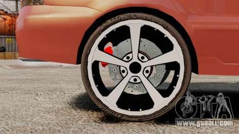 Mitsubishi Lancer Evolution IX 1.6 for GTA 4 back view
