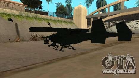 AT-99 Scorpion Gunship from Avatar for GTA San Andreas back view