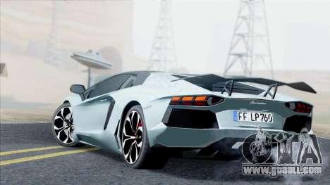 Lamborghini Aventador LP760-2 2013 for GTA San Andreas back view