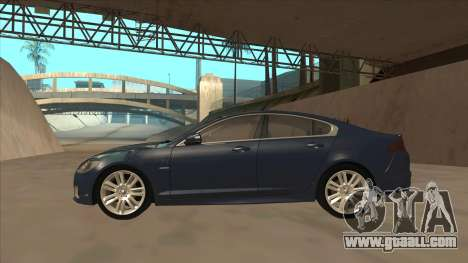 Jaguar XFR 2010 v1.0 for GTA San Andreas back left view