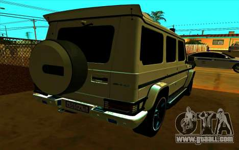 Mercedes-Benz G65 AMG 2013 for GTA San Andreas back left view