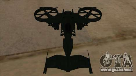 AT-99 Scorpion Gunship from Avatar for GTA San Andreas side view