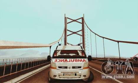 Renault Master PCSO AMBULANCE for GTA San Andreas left view
