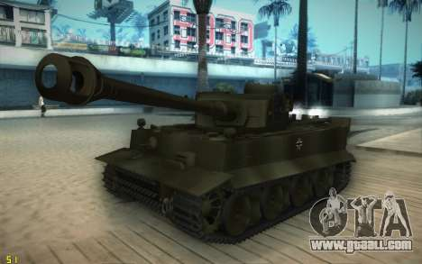 Pzkpfw VI Tiger I for GTA San Andreas