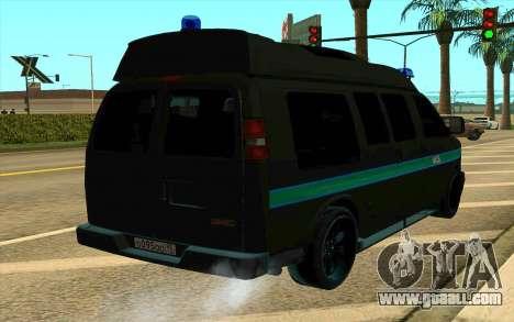 GMC Savana AWD FSB for GTA San Andreas left view