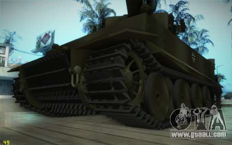 Pzkpfw VI Tiger I for GTA San Andreas left view