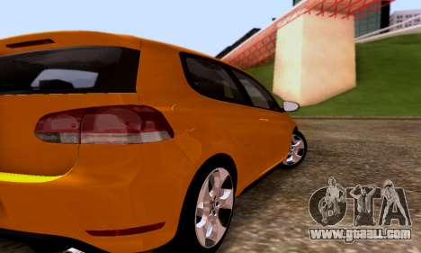 Volkswagen Golf 6 GTI for GTA San Andreas right view