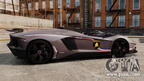 Lamborghini Aventador J Big Lambo for GTA 4 left view