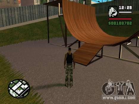 New BMX Park v1.0 for GTA San Andreas fifth screenshot