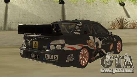 Subaru Impreza WRC Itasha for GTA San Andreas right view