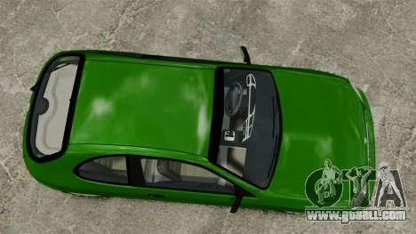 Daewoo Lanos FL 2001 US for GTA 4 back view