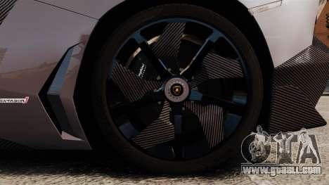 Lamborghini Aventador J Big Lambo for GTA 4 back view