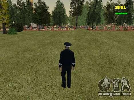 RUSSIAN TRAFFIC POLICE Officer for GTA San Andreas third screenshot