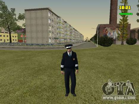 RUSSIAN TRAFFIC POLICE Officer for GTA San Andreas second screenshot