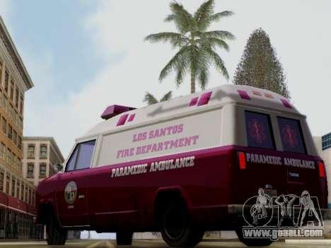 Vapid Ambulance 1986 for GTA San Andreas left view