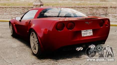 Chevrolet Corvette C6 Z06 V1.1 for GTA 4 back left view