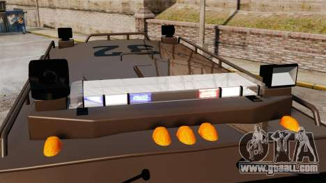 Lenco Bearcat Armored LSPD GTA V for GTA 4 back view