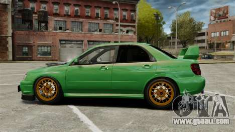 Subaru Impreza 2005 DTD Tuned for GTA 4 left view