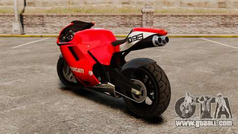 Ducati 1098 for GTA 4 back left view