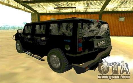 Hummer H2 for GTA San Andreas interior