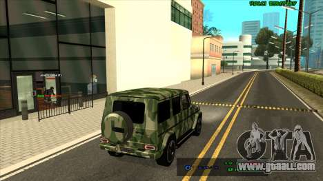 Mercedes-Benz G65 Camo for GTA San Andreas back left view