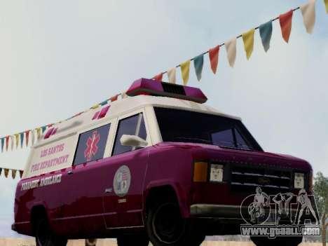 Vapid Ambulance 1986 for GTA San Andreas