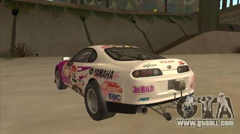 Toyota Supra JZA80 Itasha for GTA San Andreas back view
