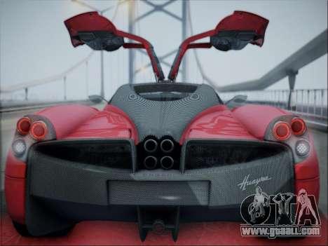Pagani Huayra for GTA San Andreas back view