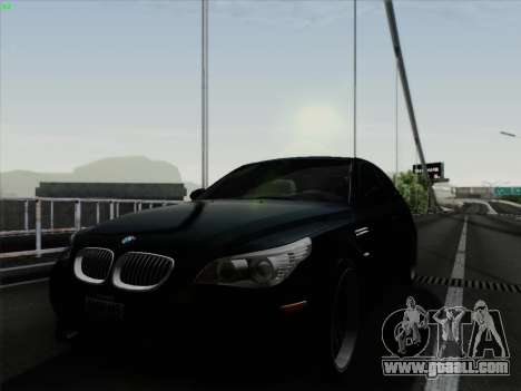 BMW M5 Hamann for GTA San Andreas back left view