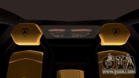 Lamborghini Aventador LP760-2 2013 for GTA San Andreas upper view