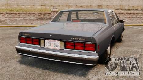 Chevrolet Caprice 1989 for GTA 4 back left view