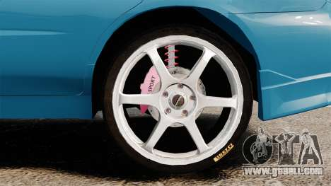 Subaru Impreza for GTA 4 back view