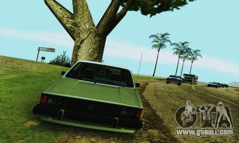 Volkswagen Rabbit GTI 1986 Cult Style for GTA San Andreas back view