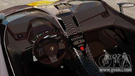 Lamborghini Aventador J Big Lambo for GTA 4 inner view