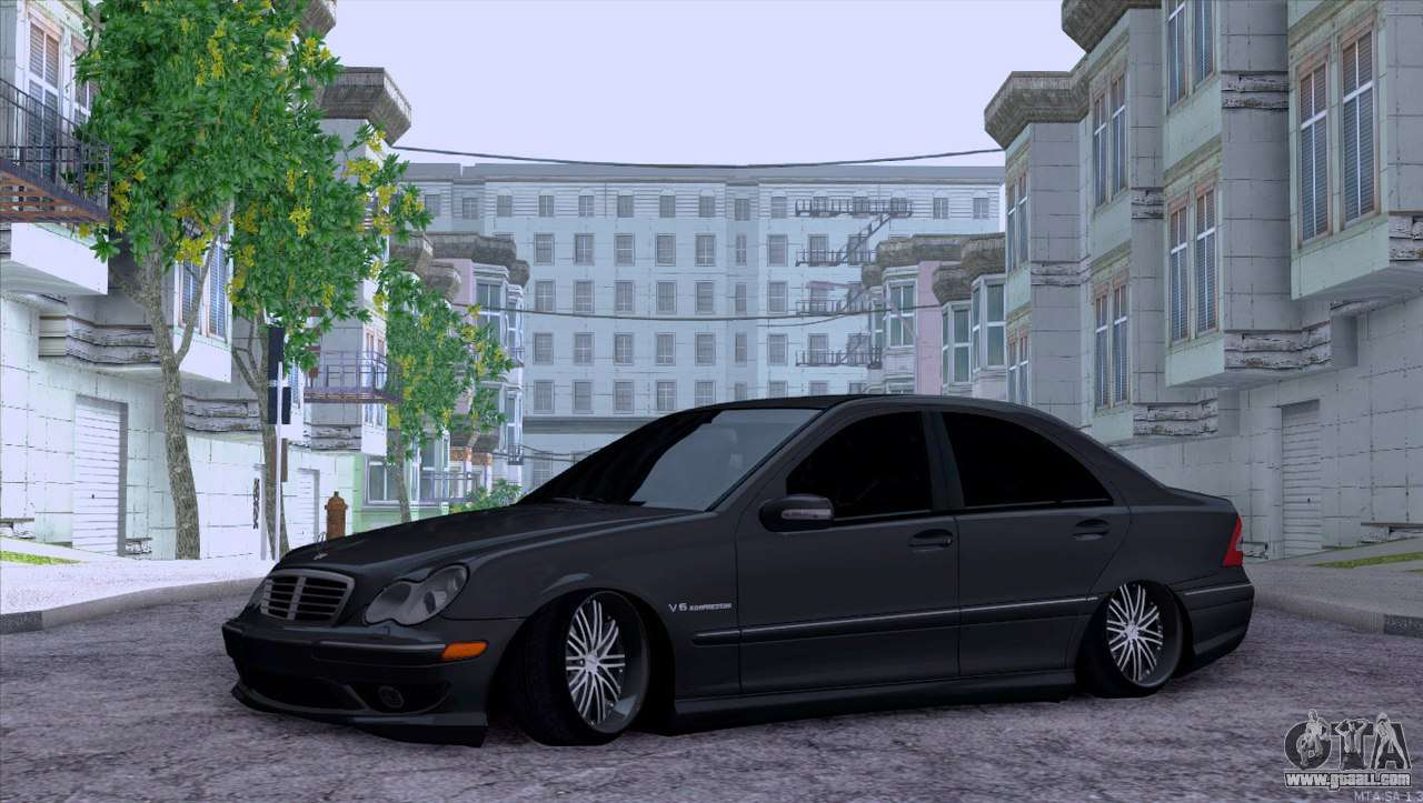 mercedes benz c32 amg for gta san andreas. Black Bedroom Furniture Sets. Home Design Ideas