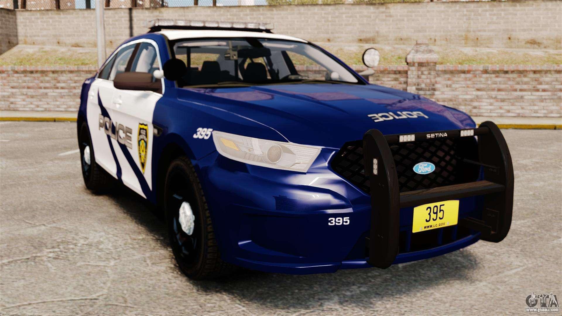 ford taurus police interceptor 2013 lcpd els for gta 4. Black Bedroom Furniture Sets. Home Design Ideas