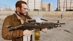 Light machine gun M249 SAW